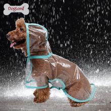 Wholesale Waterproof Dog Clothes Transparent EVA Dog Raincoat For Puppy Dog