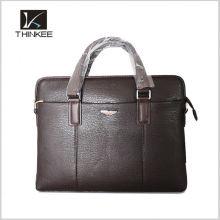 Marrón de cuero genuino de la vendimia de cuero genuino de viaje clásico equipaje Duffle gimnasio bolsos de mano