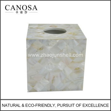 Chinese River Shell Napkin Box for Five Star Hotel