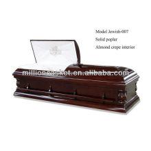 solide Pappel Kremation Sarg jüdischen Sarg Boxen kaufen Sarg