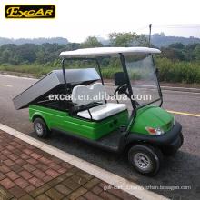 Carro elétrico do carrinho de golfe dos assentos do carro 48V 2 do serviço de electricidade de EXCAR com caixa da carga