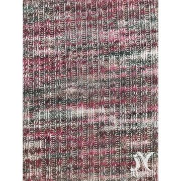 Multicolor Repeat Rib Slub Fabric Knit