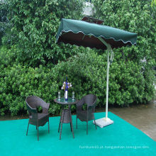 Outdoor Leisure Rattan Table Chair Set com Sun Umbrella