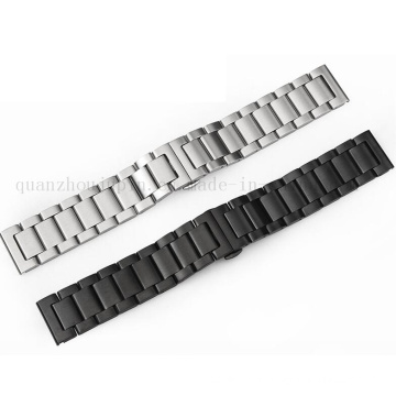OEM Logo Adjustable Metal Stainless Steel Watch Strap