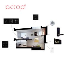 Software de gerenciamento de hotéis Interruptor de parede de placa de porta personalizado TV PC Dados Touch Glass Metal Plástico Switch Panel Plug Sockets