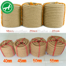Vente chaude naturel sial corde non traitée or sisal corde fournisseur sial corde 6mm