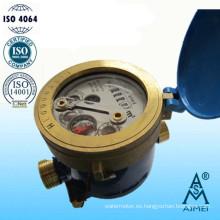 Medidor de agua fría Multi Jet líquido sellado tipo latón