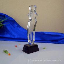 En gros de haute qualité à bas prix verre trophée en verre trophées en verre