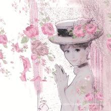 High Quality Custom Digital Printing Silk Fabric (TLD-0001)
