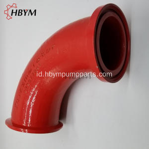 Suku Cadang Pompa Beton ZX Flange Casting Elbow