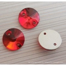 Red Light Siam Round Fashion Button Flat Back Buttons
