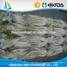 100% net weight frozen squid tentacles with protective glazing