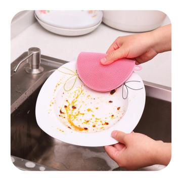 Round Shape Scrubber Silicone Washing Towel