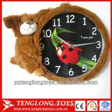 Рекламные креативные и мягкие плюшевые медвежьи часы для детей