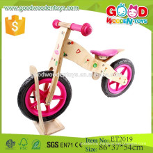Hot sale handmade and colorful 12 inch eva tire child wooden bicycle