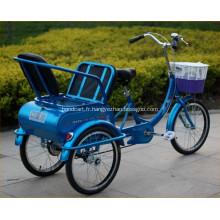 24 pouces roues Tricycles adultes pour vieux