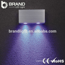 High Quality ip20 2*3w round led wall light, indoor led wall light