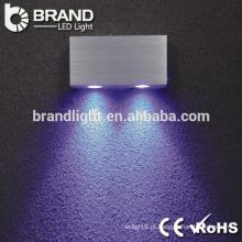 Alta qualidade ip20 2 * 3w rodada levou luz de parede, luz de parede levou interior