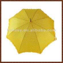 Schöne helle Farbe Pongee Regenschirm, gerade Golf Auto Open