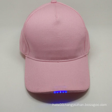 high quality blank baseball cap LED baseball cap