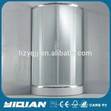 Chuveiro em canto de design simples 5MM Chuveiro de vidro temperado
