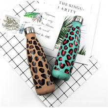 Wholesale Leopard Printing Double Wall Stainless Steel Vacuum Flask 350/500/750/1000ML
