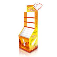 Pantalla de papel corrugado para la tarjeta de felicitación, exhibición de la cartulina