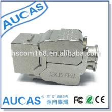 AUCAS UTP cat5e rj45 Modul Stecker / CAT6 Buchse Adapter Modul Stecker / Keystone Buchse 180 Grad