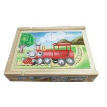 Pädagogische Wooden Puzzle Box 4 in 1 Holzspielzeug