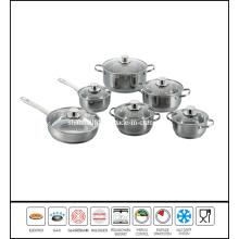 Stainless Steel Double Handle Saucepan