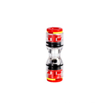 Promotional price cheap micro-duct straight couling connector plastic east observe push fit fitting