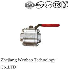 Robinet à tournant sphérique à haute pression d'acier inoxydable de 3PC avec le type de soudure bout à bout