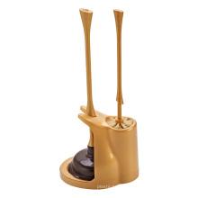 High Pressure Rubber Custom Toilet Plunger Head PlasticToilet Brush Set with Holder