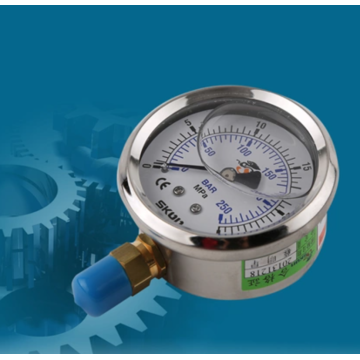 Hydraulic pressure gauge for industrial machinery