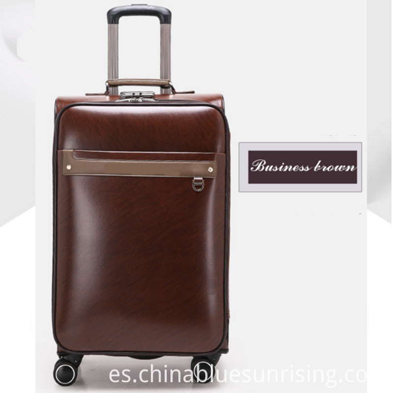 Business brown pu luggage