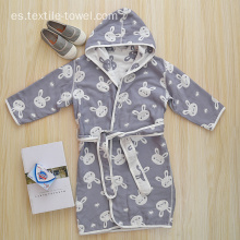 Cute Robes Hooded Boys Bathrobe Terry Cloth Bathrobe