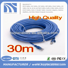 Cabo do remendo de 50FT RJ45 Cat6 azul para o computador
