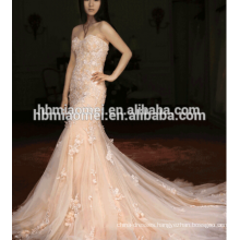 France import lace fish tail lace wedding dress 2016 ball gown