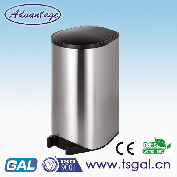 stainless steel automatic trash can