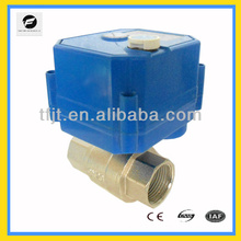 2-way electric controlball valve with position indicator and handle wheel for Water saving system