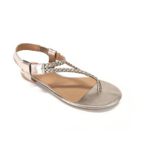 LADIES FASHION FLIP SANDAL MIT GEWEBTEM OBEREN