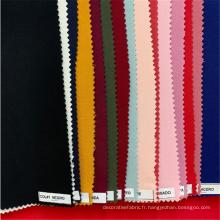 Tissu de pantalon pour dames rayonne spandex en fil teint uni