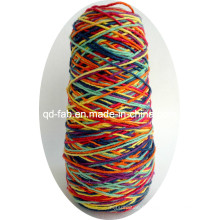 Ficelle / cordon de chanvre coloré arc-en-ciel panaché pour bracelet et illustration