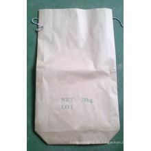 Bolsa de papel Kraft cuadrado inferior para polvo de carburo de silicio 20 kg