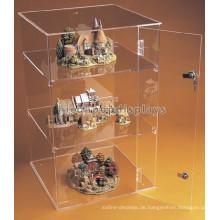 Neue verschließbare Zähler 3-Layer Pure Acryl Spielzeug Auto Display Fällen, Modell Trian Hot Wheels Display Case