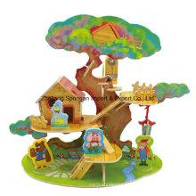 Brinquedo de madeira para brinquedos DIY Casas-Tree House