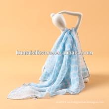Tela de seda de gasa Original impreso fanshion accesorio señora bufanda