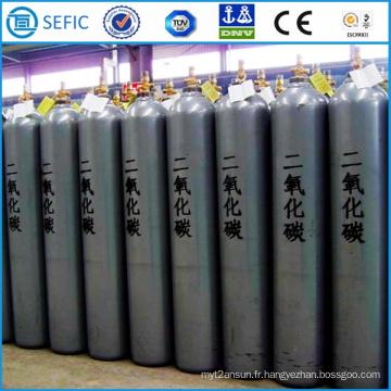 Cylindre industriel sans couture de dioxyde de carbone d'acier de 50L (EN ISO9809)