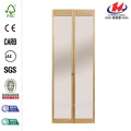 32IN traditionnel miroir porte en bois pliantes