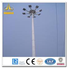 Sliver Otcagonal High Mast Light Pole